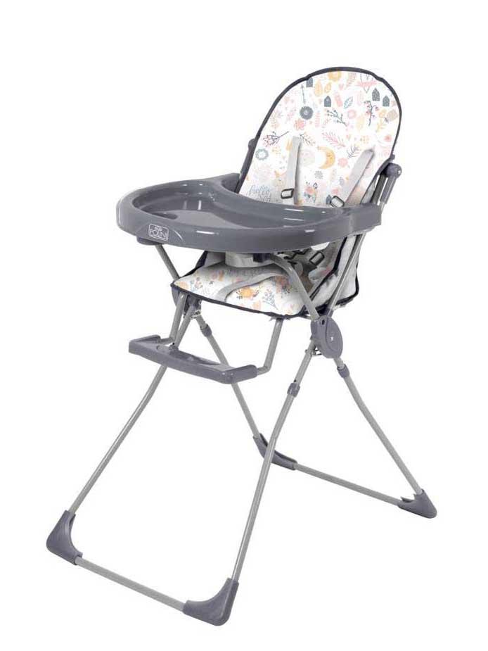 Стульчик для кормления Polini kids 152 Единорог Hello baby, серый