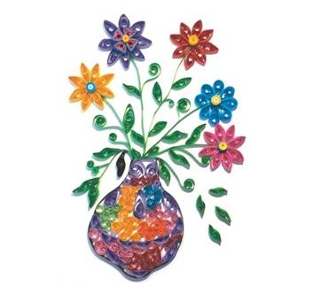Набор для детского творчества. Квиллинг. ЦВЕТЫ В ВАЗЕ (европодвес) (Арт. М-8015)