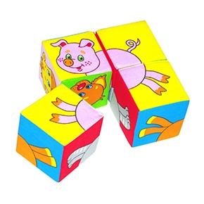 "Игрушка кубики ""Собери картинку"" (Домашние животные) (Арт. 209)"