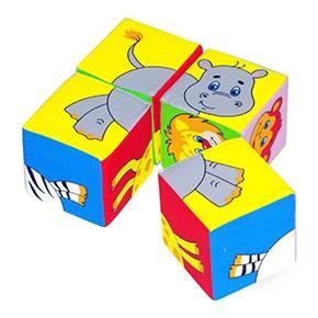 """Игрушка кубики """"Собери картинку"""" (Животные Африки) (Арт. 210)"""