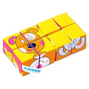 """Игрушка кубики """"Собери картинку"""" (Зверята) (8 кубиков) (Арт. 336)"""