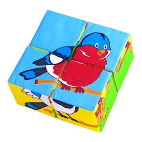 """Игрушка кубики """"Собери картинку"""" (Птицы) (Арт. 239)"""