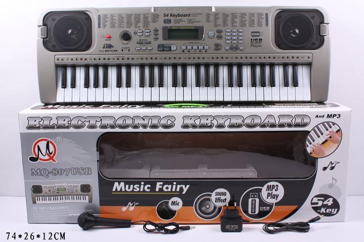 Синтезатор MQ-807USB с микрофоном в коробке сетевой 74*26*12