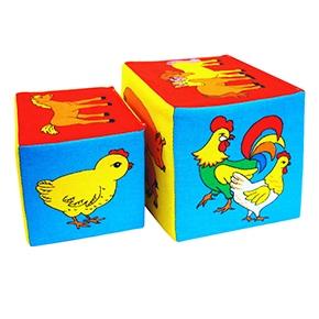 """Игрушка кубики """"Мякиши"""" (Чей детеныш?) (Арт. 169)"""