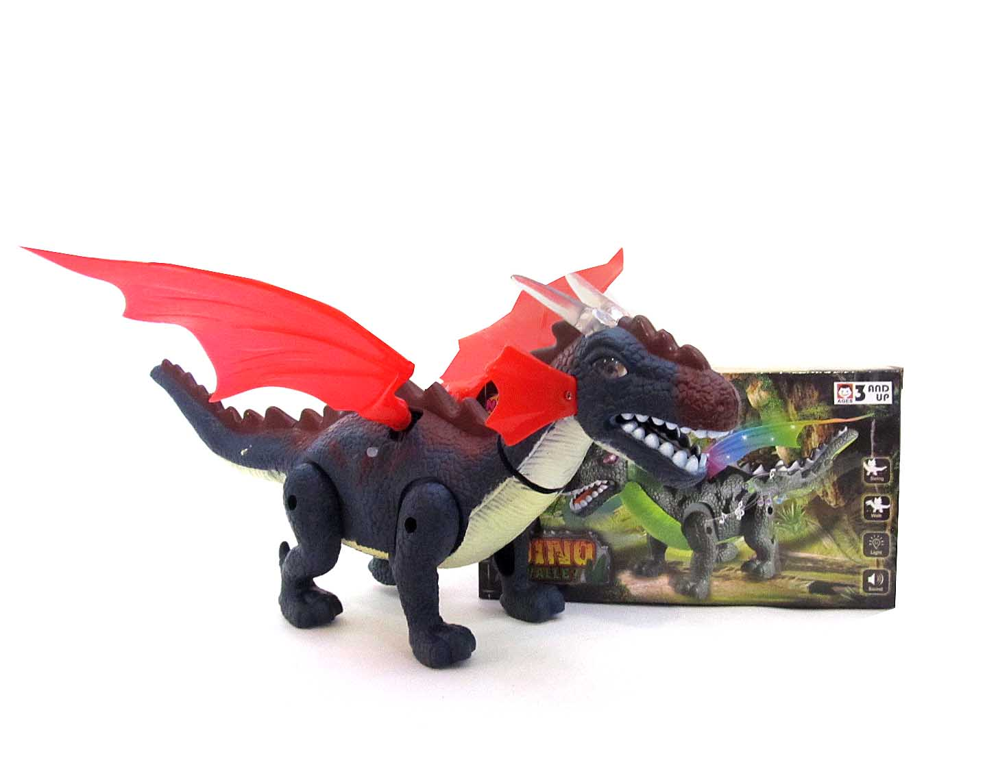 Динозавр на батарейках свет звук NY006-B