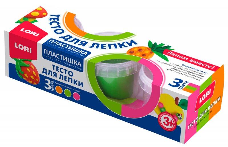 Тесто для лепки. Пластишка. Набор №19, 3цв. по 80 гр..Тдл-022