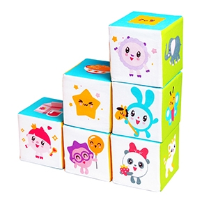 "Игрушка кубики ""Малышарики"" (Предметики) (6 кубиков) (Арт. 397)"