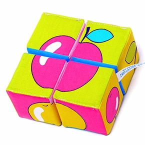 """Игрушка кубики """"Собери картинку"""" (Ягоды, Фрукты, Овощи) (4 кубика) (Арт. 337)"""