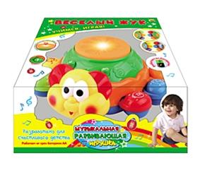 Музыкальная развивающая игрушка. ЗАБАВНЫЙ ЖУК (русская озвучка) (Арт. И-7410)