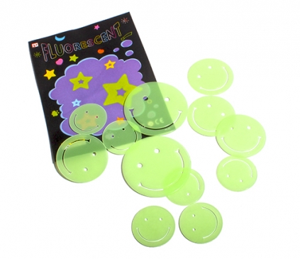 Набор наклеек флюоресцентных. СЕВЕРНОЕ СИЯНИЕ (пластик, 6 видов микс) в пакете (Арт. G14068)