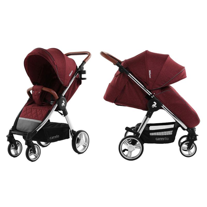 Детская коляска CARRELLO  Milano  CRL-5501 Tango Red