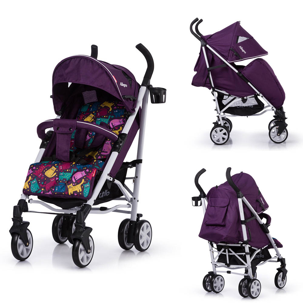 Детская коляска CARRELLO Allegro CRL-10101/1 Kitty Purple