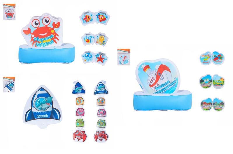 игрушка книжка для купания с присосками 7507/7503/7502