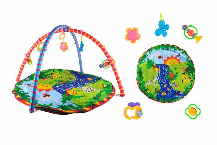 разв игр коврик для малышей с дугами и погремушками 6903