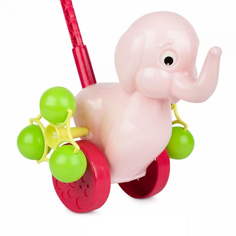 Каталка на палочке Розовый Слонёнок 9272