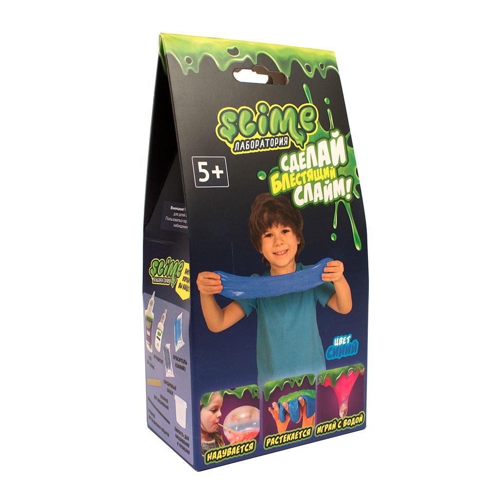 """Игрушка ТМ """"Slime""""100-5 Малый набор для мальчиков """"Лаборатория"""", синий, 100 гр."""
