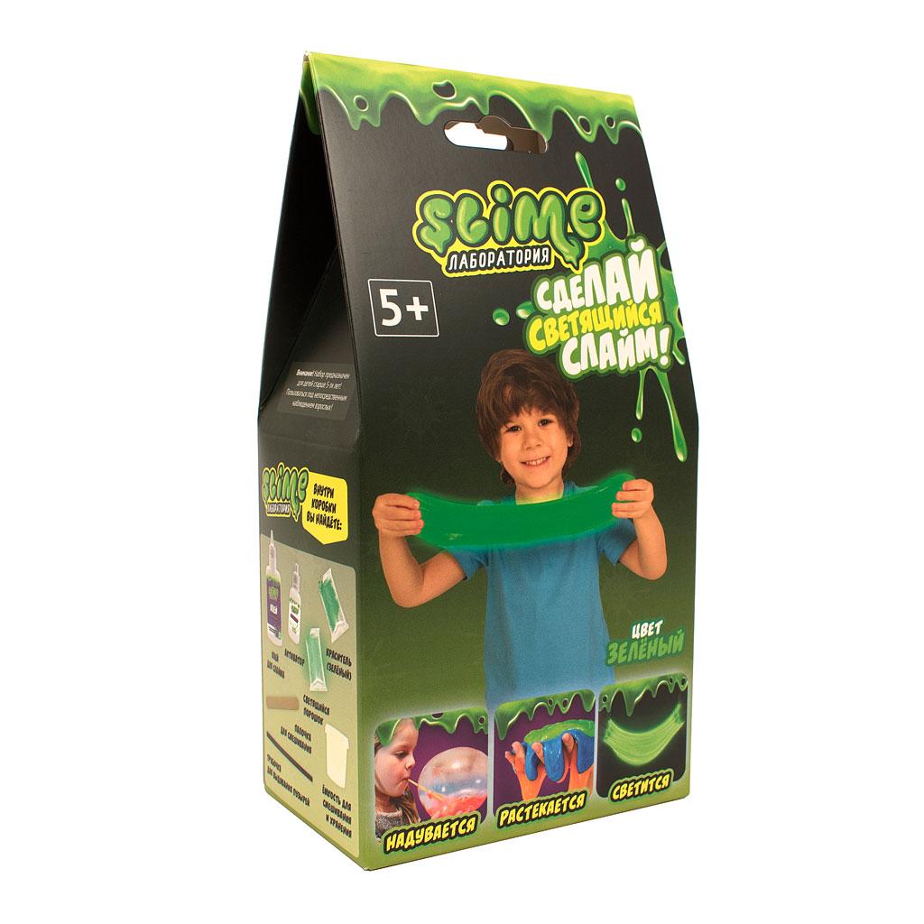 """Игрушка ТМ """"Slime""""100-4 Малый набор для мальчиков """"Лаборатория"""", зеленый, 100 гр."""