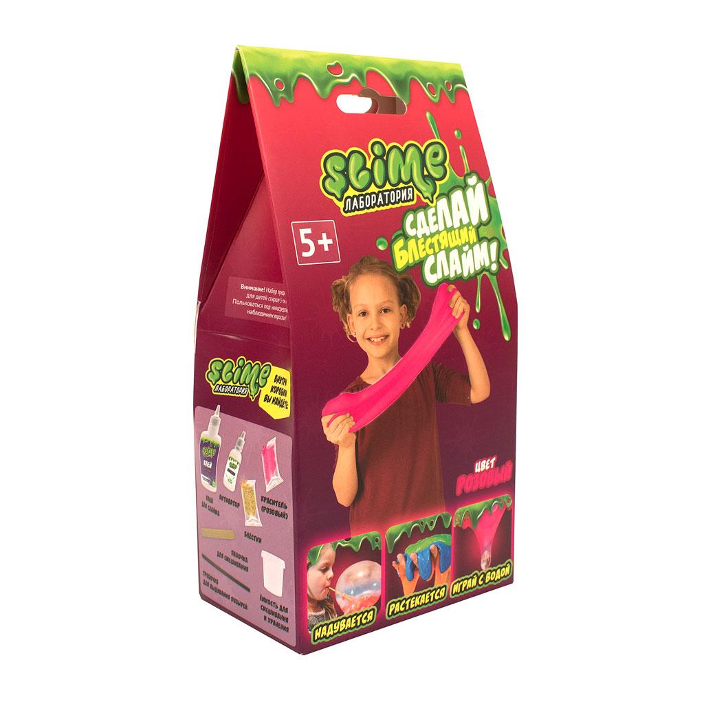 """Игрушка ТМ """"Slime"""" 100-2  Малый набор для девочек """"Лаборатория"""",розовый, 100 гр."""
