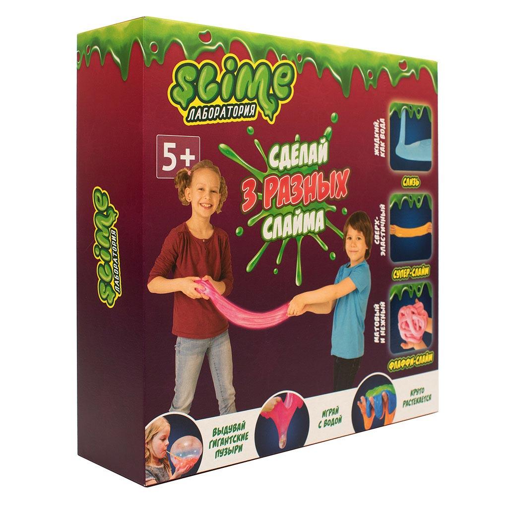 """Игрушка ТМ """"Slime""""300-1 Средний  набор 3 в 1 """"Лаборатория"""", 300 гр."""