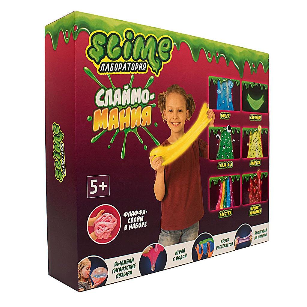 """Игрушка ТМ """"Slime"""" 300-5 Большой набор для девочек """"Лаборатория"""", 300 гр."""