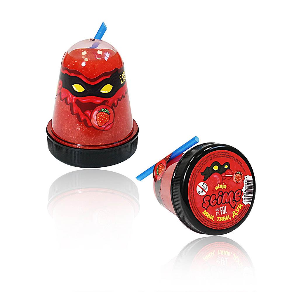 "Игрушка ТМ ""Slime ""Ninja""130-17 с ароматом клубники, 130 г."