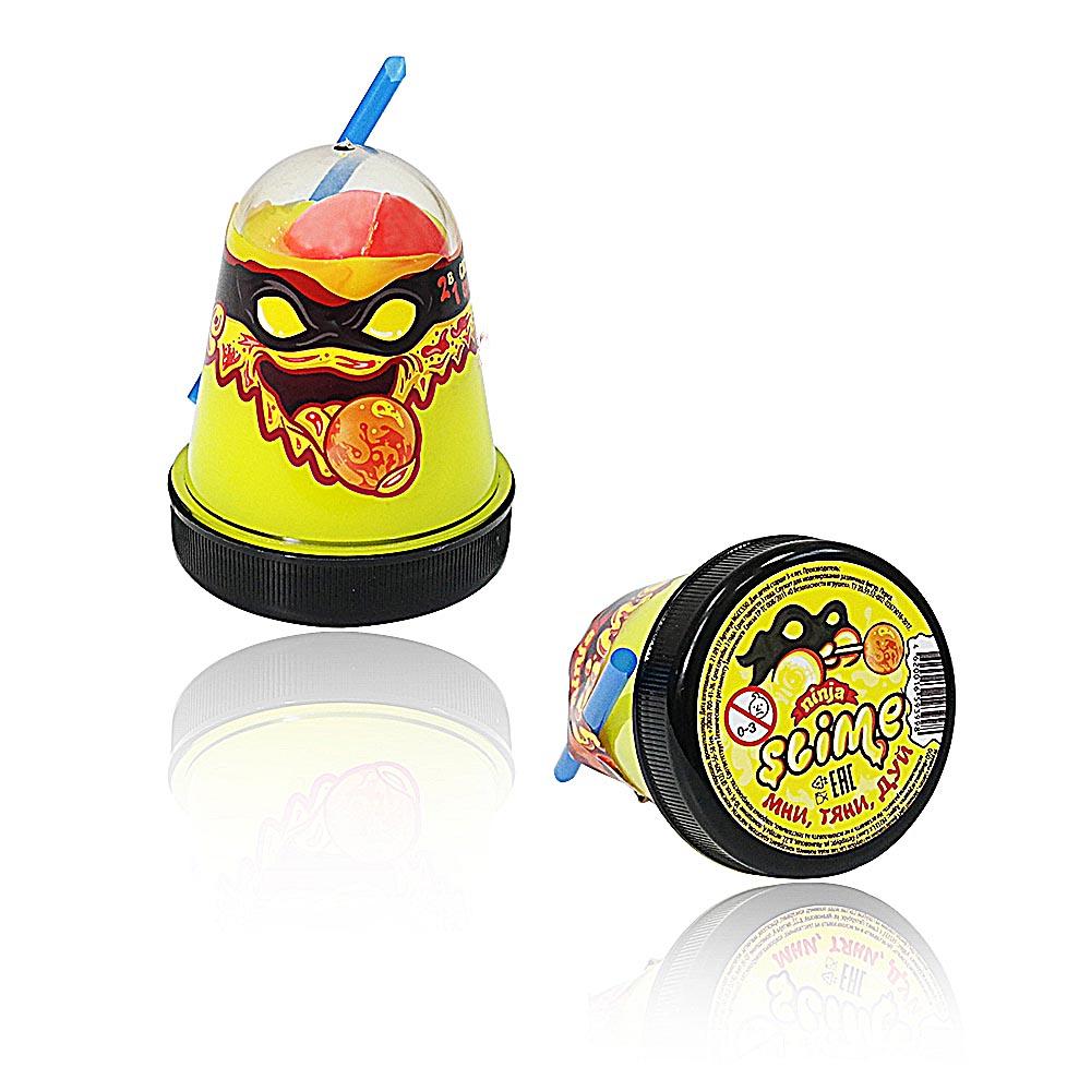 """Игрушка ТМ """"Slime """"Ninja"""" 2 в 1 130-2 смешивай цвета, желтый и красный, 130 г."""