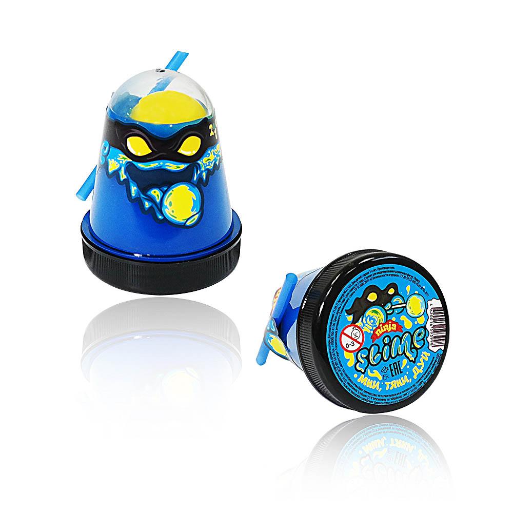 """Игрушка ТМ """"Slime """"Ninja"""" 2 в 1 130-1 смешивай цвета, синий и желтый, 130 г."""