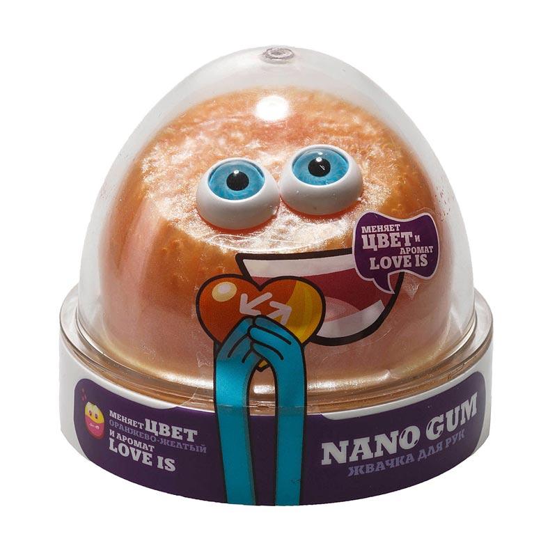 "NG2LI50 ""Жвачка для рук ""Nano gum"", оранжево-желтый с ароматом LOVE IS"", 50 гр."