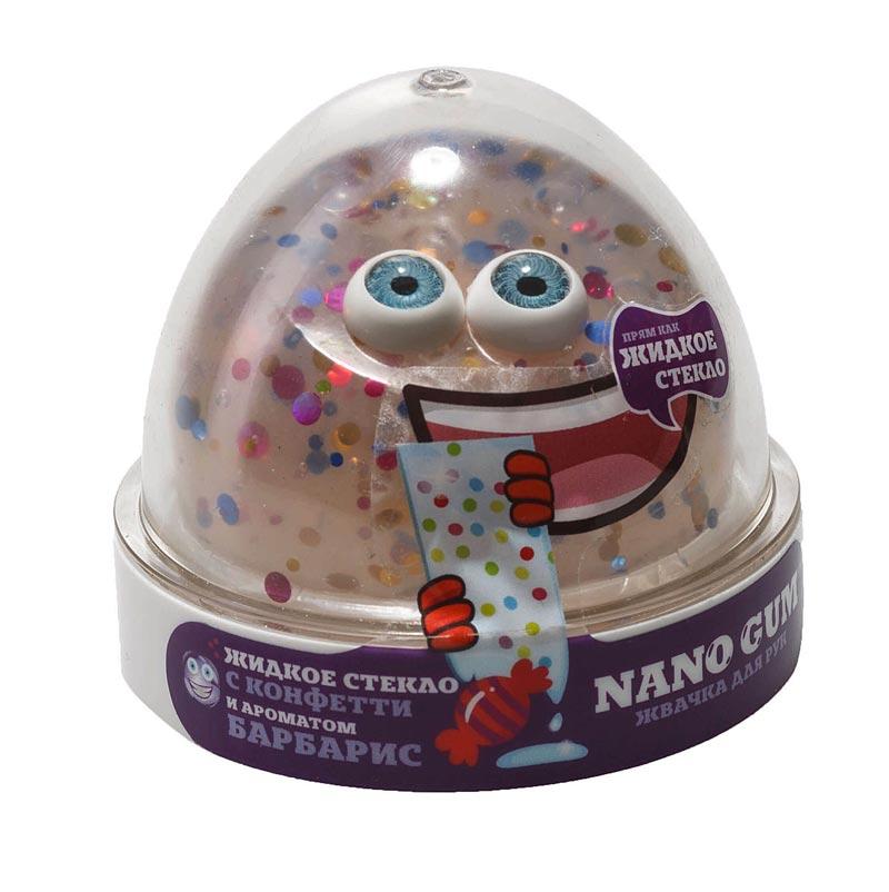 """NGLGAB25 """"Жвачка для рук """"Nano gum"""", жидкое стекло с  конфетти и ароматом барбариса"""", 25"""