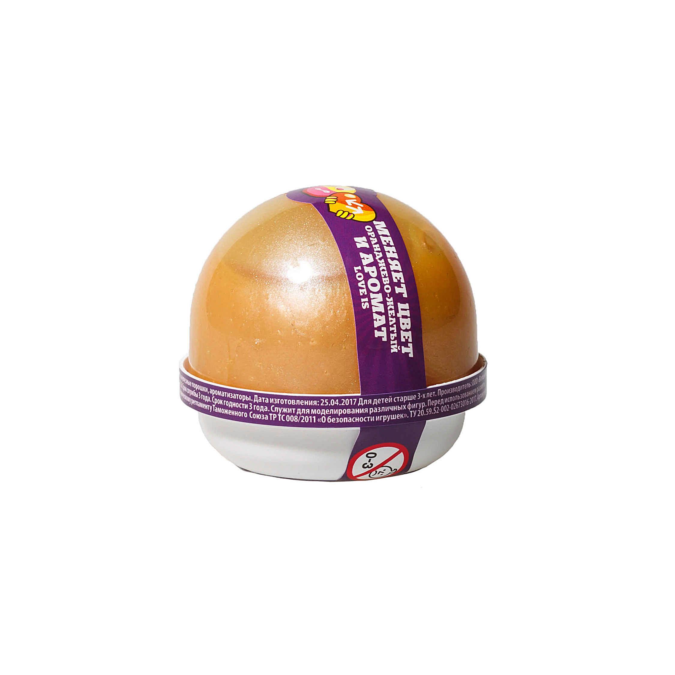 "NG2LI25 ""Жвачка для рук ""Nano gum"", оранжево-желтый с ароматом LOVE IS"", 25 гр."
