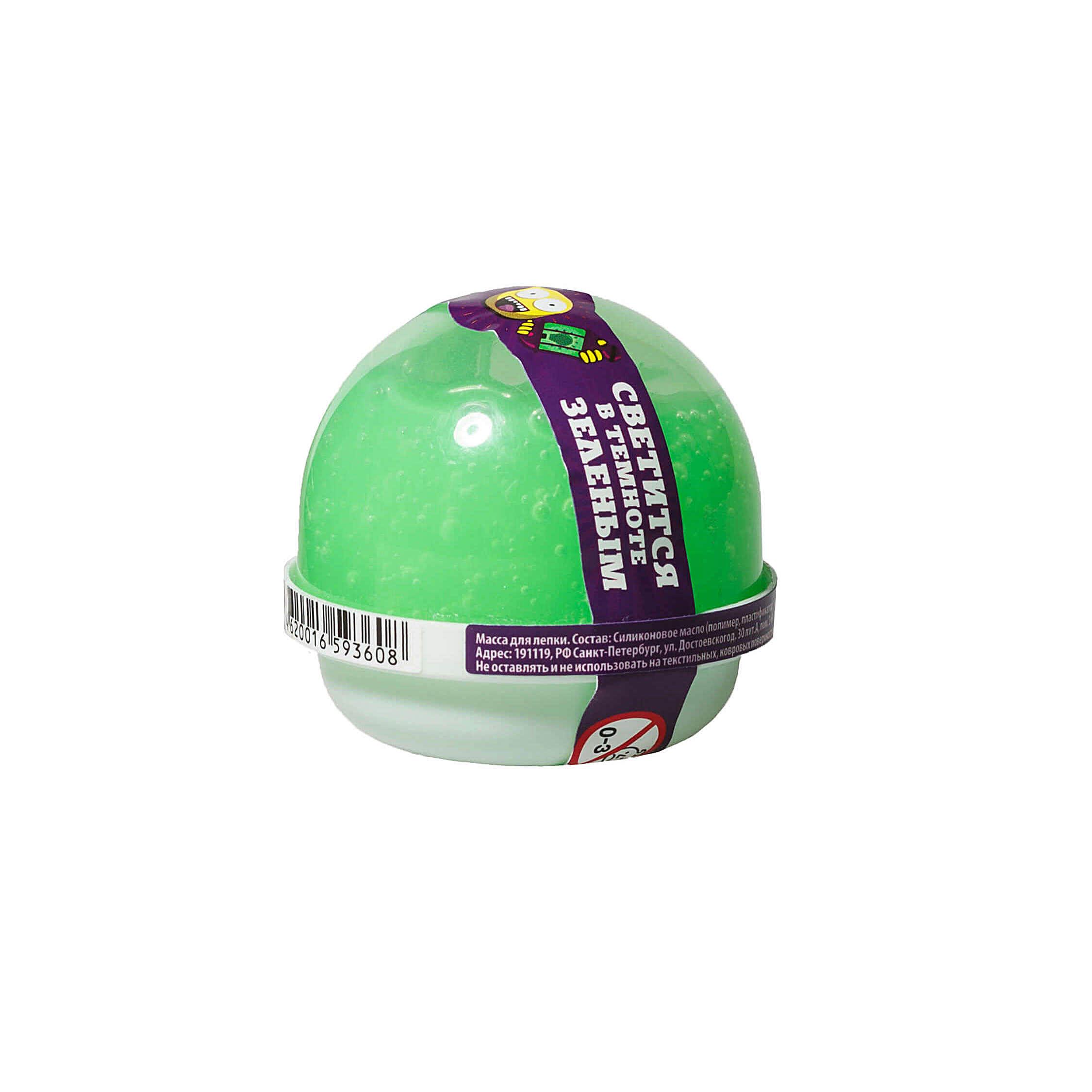 "NGGG25 ""Жвачка для рук ""Nano gum"", светится зеленым"", 25 гр."
