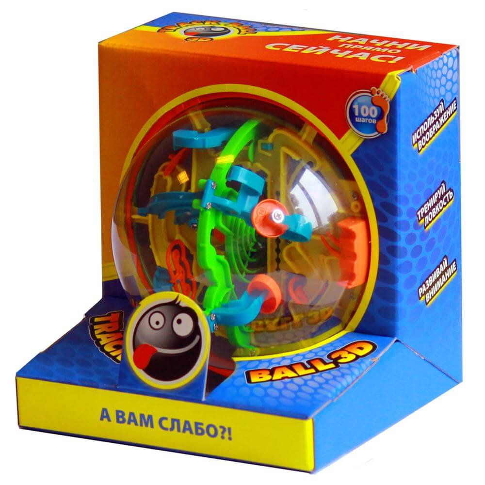 Игрушка-головоломка HB047836 Track Ball 3D 13 см (100 ходов)