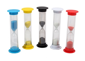 Песочные часы (5мин. цвет 5 микс, песок цвет под цвет корпуса) (Арт. ПЧ-6069) кр 10