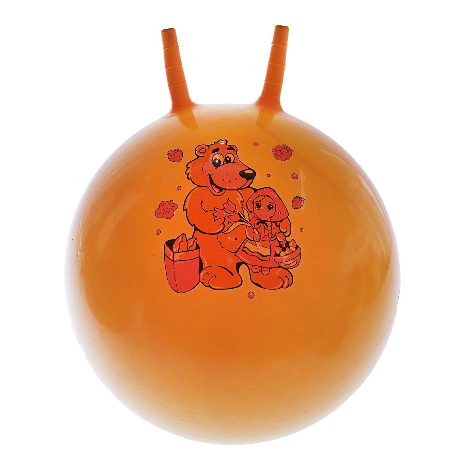 Мяч прыгун №436 с рожками /d-45