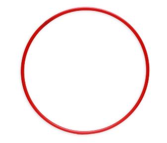 ОБРУЧ (диаметр 90 см, красный) (Арт. ОГ-8580) кратно