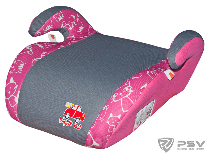 Бустер детский 22-36кг. Little Car Smart коты-розовый