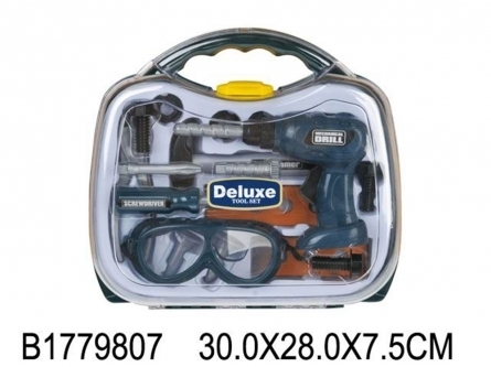 Игровой набор инструментов. Строитель (14 предметов, в чемодане 30x28 см) Арт. 1779807