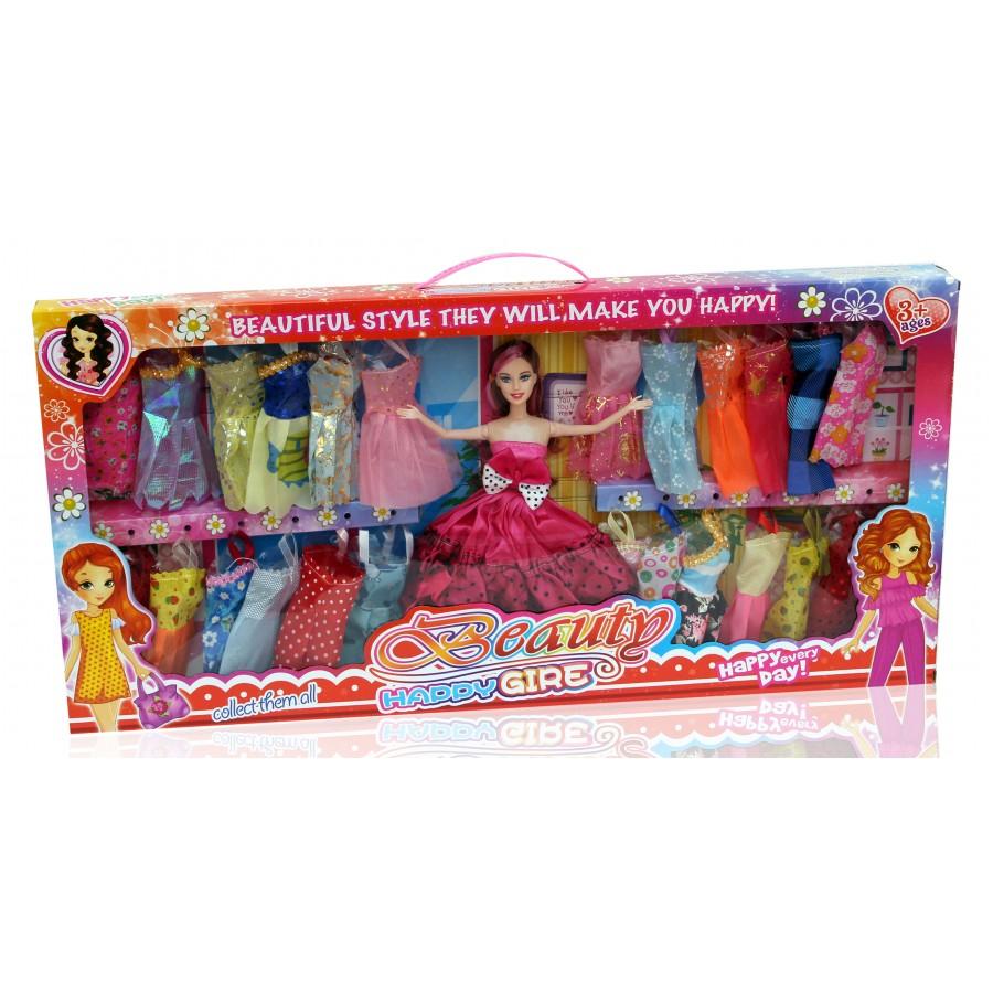 Кукла №263G-15 с набором платьев/коробка/68*6*33