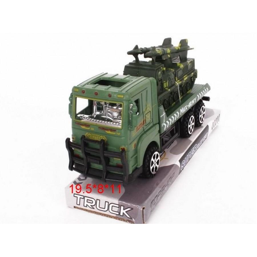 А/м Военный Автовоз №928-13B инерционный/колпак/20*8*11
