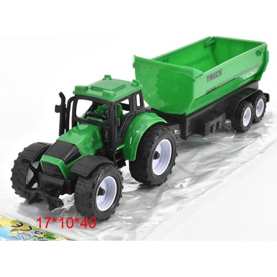 Трактор №669-35 с прицепом инерционный/пакет/40*10*17
