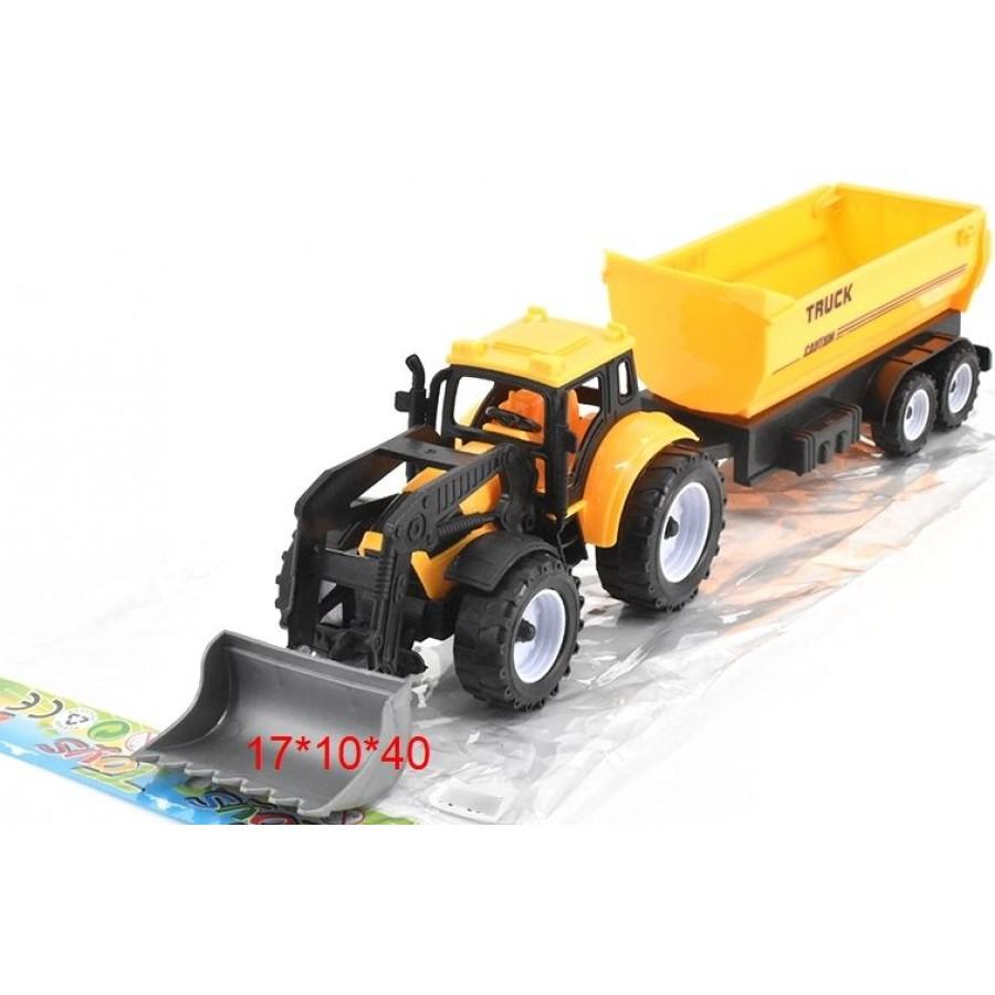 Трактор №669-45 сельскохозяйственный с ковшом и прицепом/17*10*40