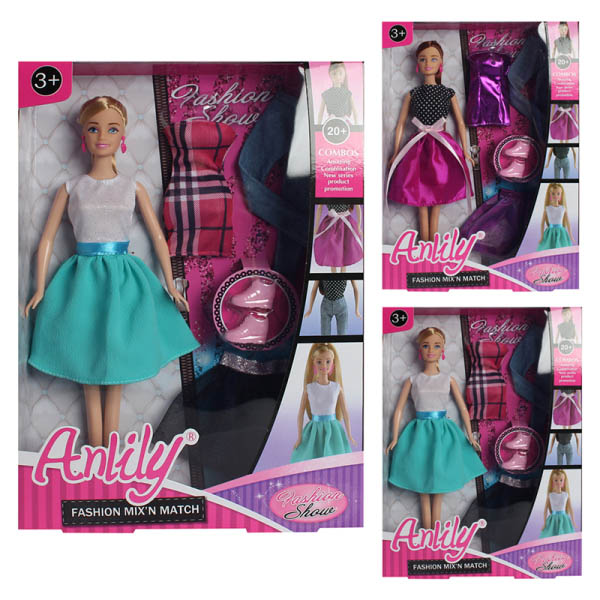 Кукла 99035 с одеждой( в коробке) 23*32*6