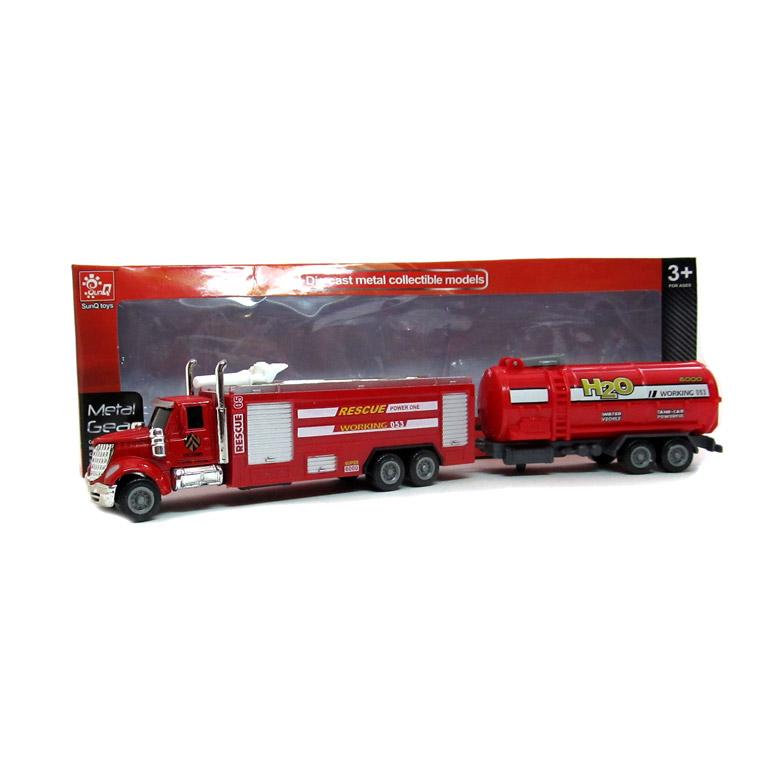 Серия: Автомир.Машинка металл.1:64 Пожарная машина с приц. (12 шт в ш/б) Арт. 1698261 кратно 12