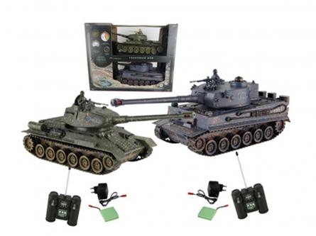 Танковый бой. Т34 против Тигра (2 танка Р/У1:24, аккумул.) Арт. 6125