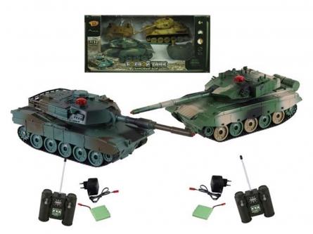 Танковый бой. ZTZ-96A против M1A2 (2 танка Р/У 1:32, аккумул. в кор. 34x19 см) Арт. 6129