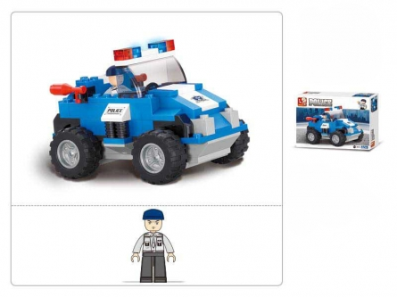 Конструктор пластик.SLUBAN.Полиция и спецназ.Автомоб.полицейского спецназа(121 дет,1 фигур)M38-B0183