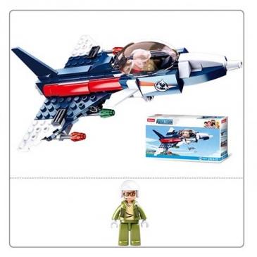 Конструктор пластиковый. SLUBAN Авиация. Вертолет-шпион (134 деталей, 1 фигурка)  Арт. M38-B0667F