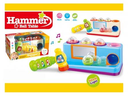 Серия Музыкальная развивающая игрушка. Стучалка. Весёлый молоточек (свет, звук) Арт. Y12695037