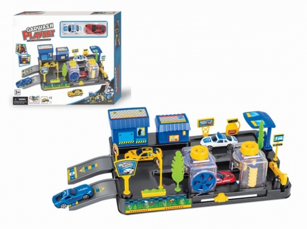 Автопарковка. Автомойка с 2 машинками и аксессуарами (коробка 33x27 см). Арт. Y3941896