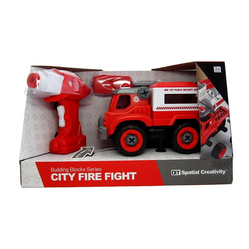 Радиоуправляемая машинка. Машина-конструктор с отверткой. 1:16 Пожарный транспорт. Арт. Y9873555